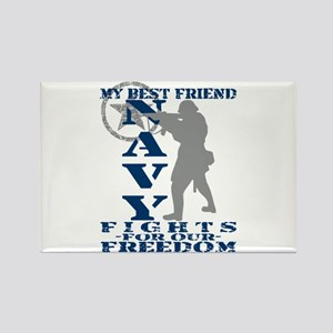 Best Friend Fights Freedom - NAVY Rectangle Magnet