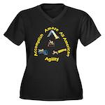 AAA Agility Women's Plus Size V-Neck Dark T-Shirt