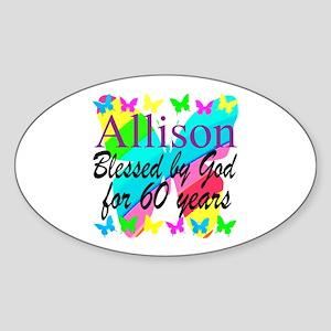 60TH PRAYER Sticker (Oval)
