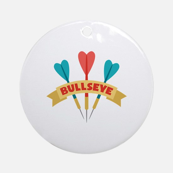 Darts Bullseye Round Ornament