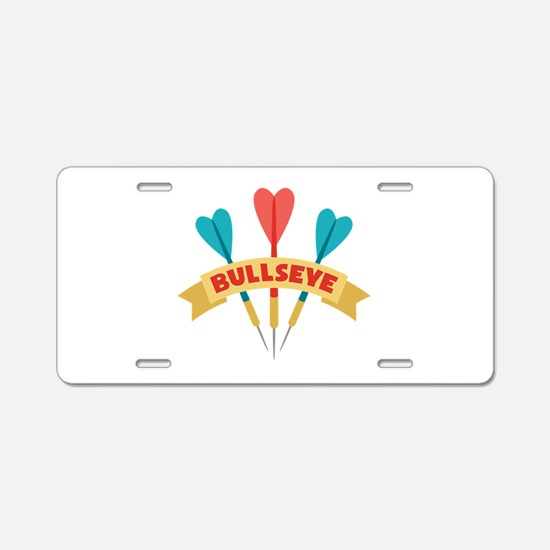 Darts Bullseye Aluminum License Plate