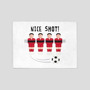 Foosball Nice Shot 5'x7'Area Rug