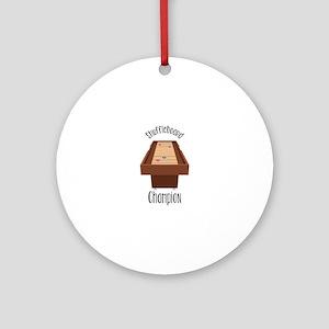 Shuffleboard Champion Round Ornament