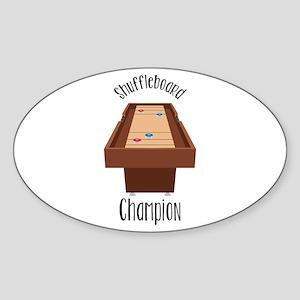 Shuffleboard Champion Sticker
