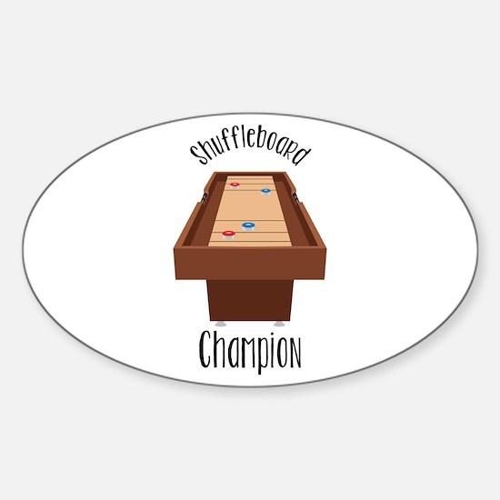 Shuffleboard Champion Decal