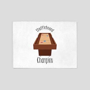 Shuffleboard Champion 5'x7'Area Rug