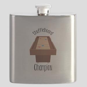 Shuffleboard Champion Flask