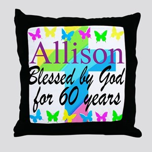60TH PRAYER Throw Pillow