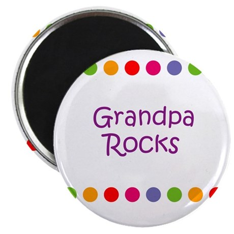 "Grandpa Rocks 2.25"" Magnet (10 pack)"