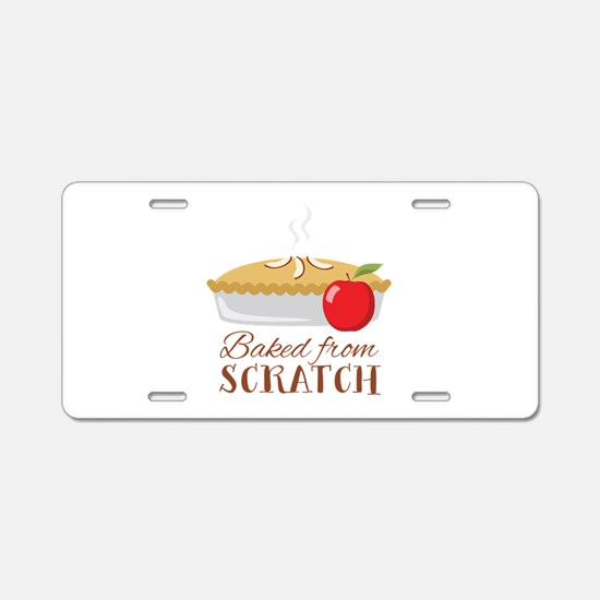 Baked From Scratch Aluminum License Plate