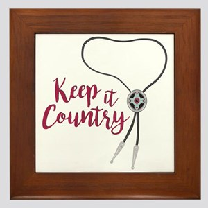 Keep It Country Framed Tile