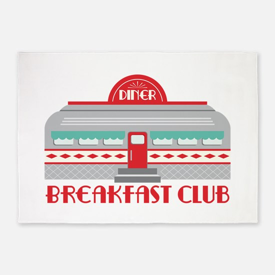 Breakfast Club 5'x7'Area Rug