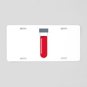 Blood Test Tube Aluminum License Plate