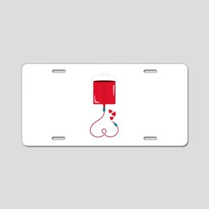 Blood Donation Aluminum License Plate
