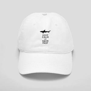 Sharks! Keep Calm and Swim Fast Baseball Cap