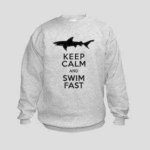 Sharks! Keep Calm and Swim Fast Sweatshirt