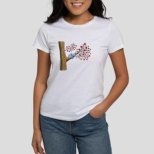 Sleeping koala on a tree with hearts T-Shirt