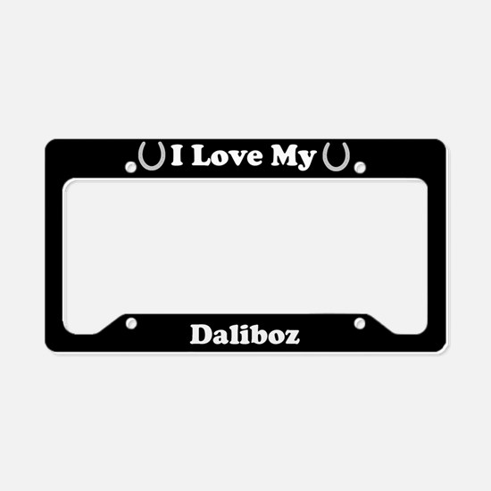 I Love My Daliboz Horse License Plate Holder