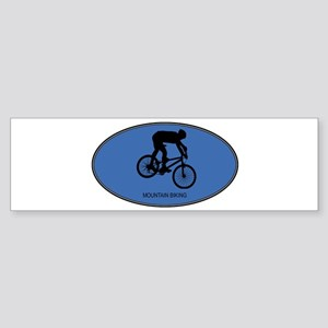 Mountain Biking (euro-blue) Bumper Sticker