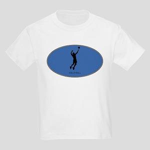 Mens Volleyball (euro-blue) Kids Light T-Shirt