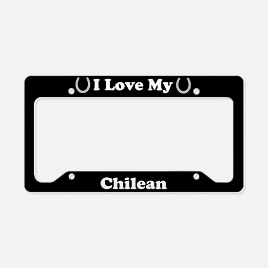 I Love My Chilean Horse License Plate Holder