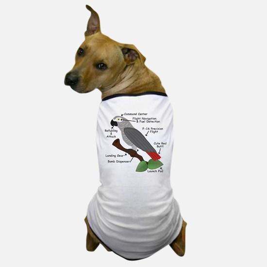 Anatomy of an African Grey Parrot Dog T-Shirt