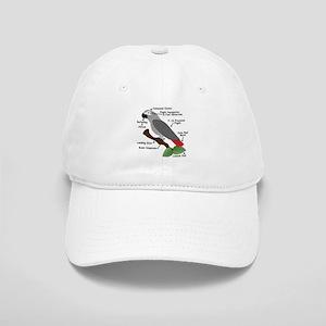 Anatomy of an African Grey Parrot Baseball Cap
