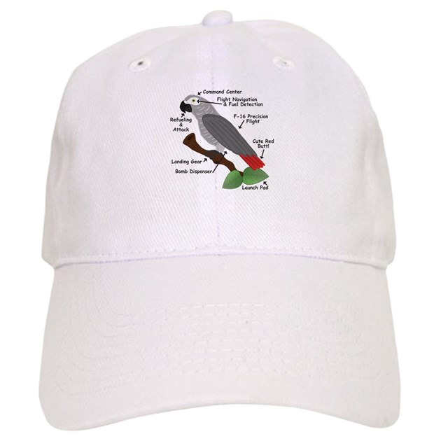 Anatomy Of An African Grey Parrot Baseball Baseball Cap By