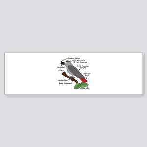 Anatomy of an African Grey Parrot Bumper Sticker