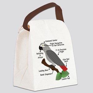 Anatomy of an African Grey Parrot Canvas Lunch Bag
