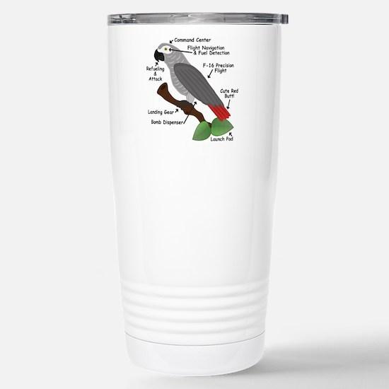 Anatomy of an African Grey Parrot Travel Mug