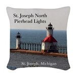 St. Joseph North Pierhead Woven Throw Pillow