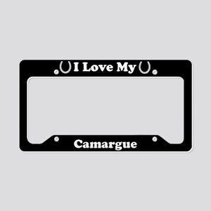 I Love My Camargue Horse License Plate Holder