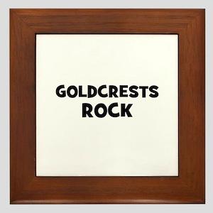 Goldcrests Rock Framed Tile