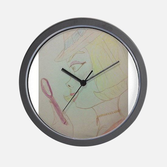 Girl Detective Wall Clock