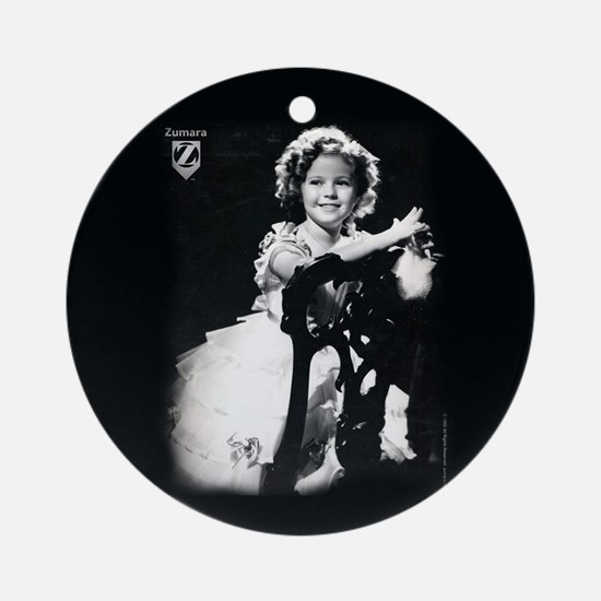 Shirley Temple Chair Round Ornament