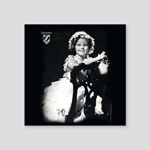 "Shirley Temple Chair Square Sticker 3"" x 3"""