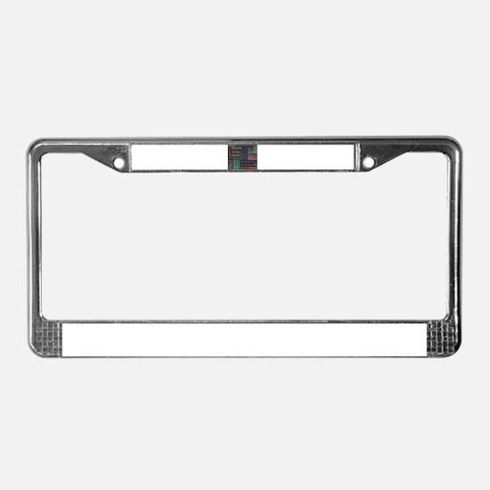 Worker License Plate Frame
