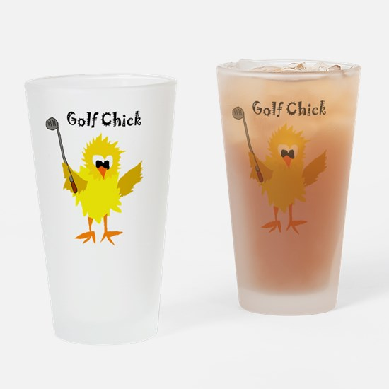 Unique Golf cartoon Drinking Glass