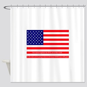 Good men with guns Shower Curtain