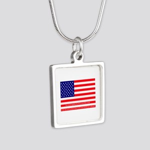 Good men with guns Silver Square Necklace