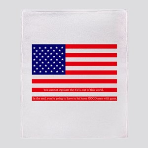 Good men with guns Throw Blanket