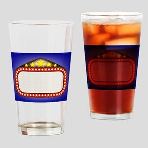 Movie Theatre Marquee Drinking Glass