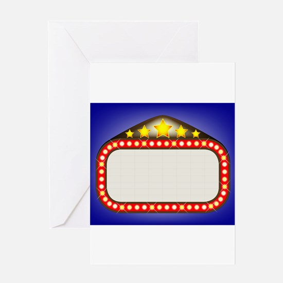 Movie Theatre Marquee Greeting Cards