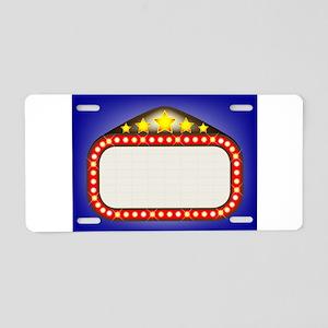 Movie Theatre Marquee Aluminum License Plate