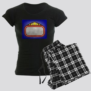 Movie Theatre Marquee Women's Dark Pajamas