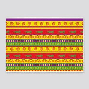Mexican Lizard Pattern 5'x7'Area Rug