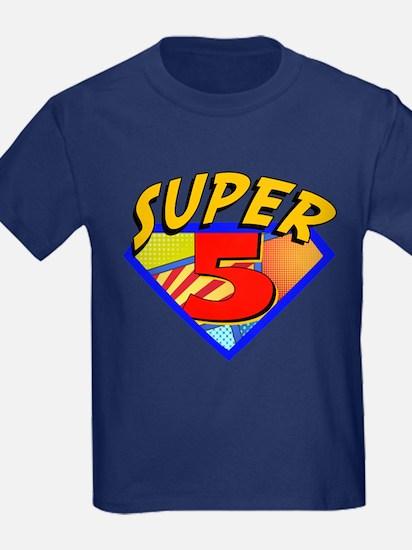 Superhero 5 Birthday T