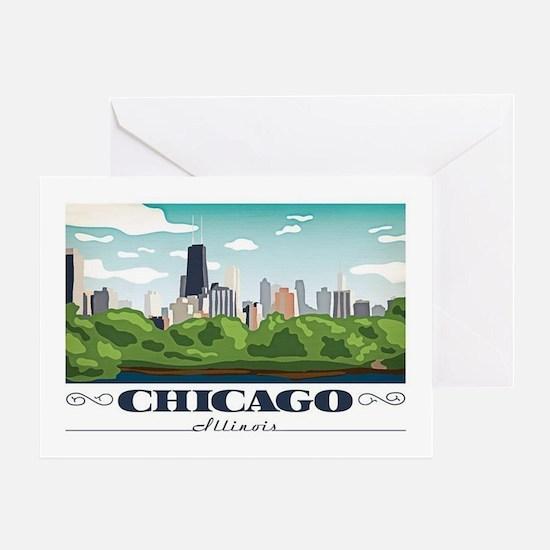 Cute Illinois Greeting Card