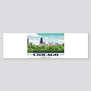 Chicago, Illinois Bumper Sticker